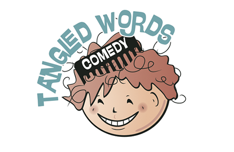 Tangled Words Comedy Logo Design